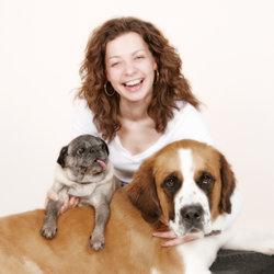 Marleen Schaumberger im Jahr 2005 mit Ihren Hunden