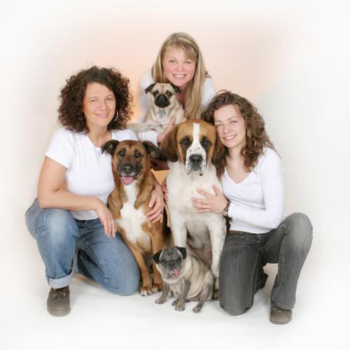 Tierheilpraxis Teambild - Silke Städtler, Kirsten Vöhrenbach, Marleen Schaumberger